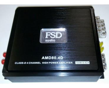 Усилитель четырехканальный FSD AMD 80.4 класс mini