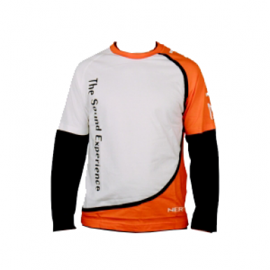 Футболка Hertz White/Orange Long Sleeve T-Shirt (L)